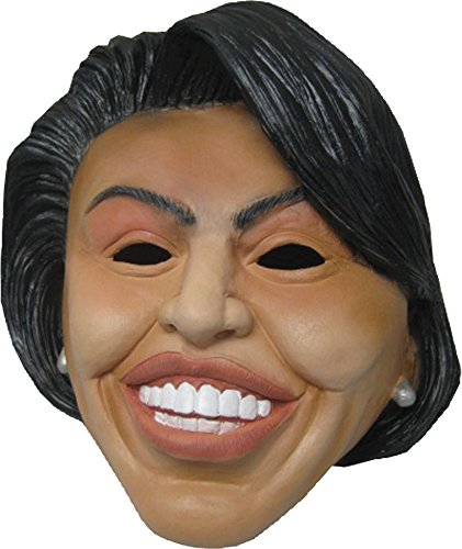 UHC Women's First Lady Michelle Obama Latex Mask Halloween Costume Accessory]()