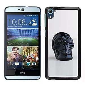 All Phone Most Case / Oferta Especial Duro Teléfono Inteligente PC Cáscara Funda Cubierta de proteccion Caso / Hard Case HTC Desire D826 // 3D Printed Plastic Skull Death Black