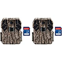 Stealth Cam Z36 No Glo 80 10MP Video LCD Trail Game Camera, 2 Pack + SD Cards