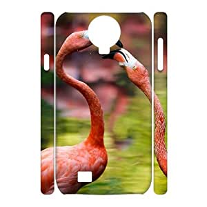 case Of Flamingos 3D Bumper Plastic Cell phone Case For Samsung Galaxy S4 i9500