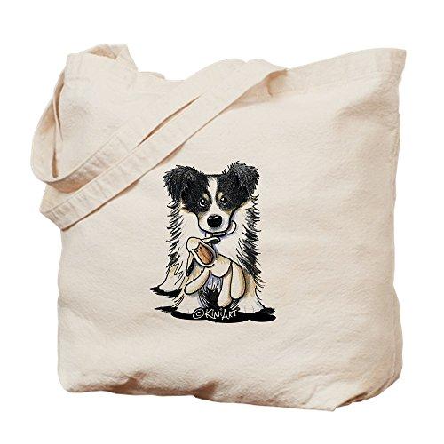 CafePress Tri-Color Border Collie Natural Canvas Tote Bag, Cloth Shopping Bag