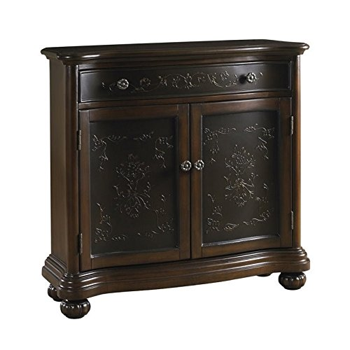 Pulaski DS-P017065 Traditional Two Tone Accent Hall Chest with Gem Brown Finish - Pulaski Accents Hall Chest