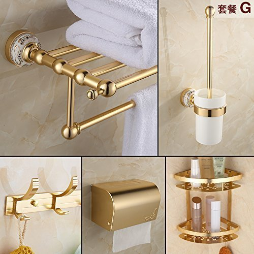 Suit -G The European Media to Aluminum, Bathroom Toilet Toilet Batteries Blond Hanger,Function -F