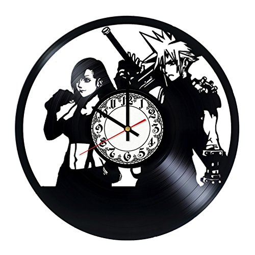Final Fantasy XV Vinyl Record Wall Clock - Gift for men, wom