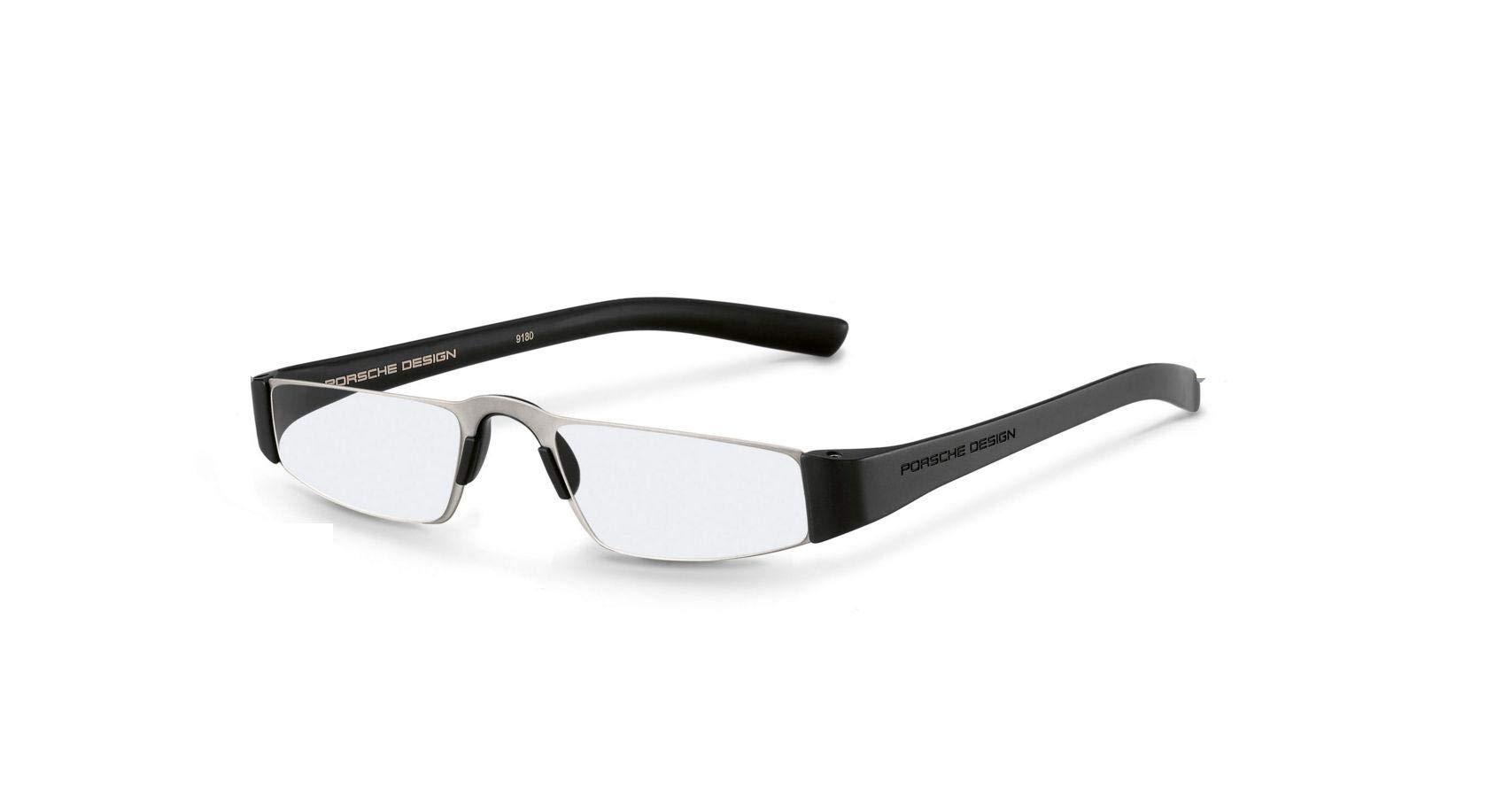 Authentic Porsche Design P 8801 A Silver, Black+1.50 Reading Glasses