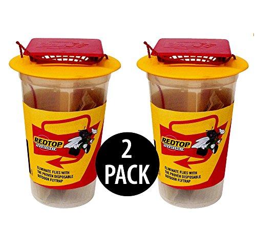 REDTOP Flycatcher Cup Trap - 100% Non-Toxic Disposable Outdo