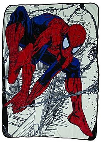 45 x 60 Inch Marvel Comics Ultimate Spiderman Super Soft Fleece Blanket (Wolverine Xmen Bedding)