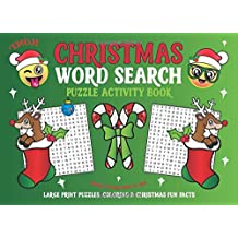 Emoji Christmas Word Search Puzzle Activity Book: Reindeer Stocking Stuffer for Kids