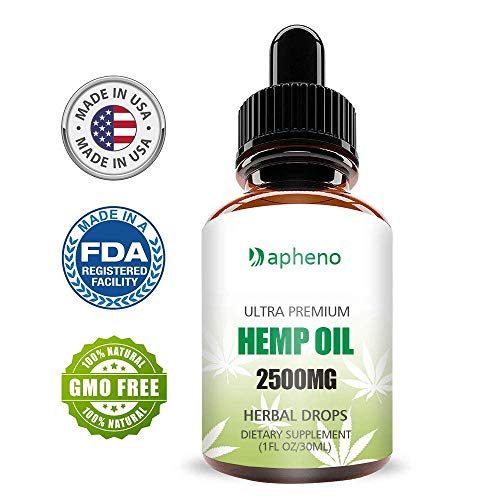 Dapheno Hemp Oil Drops 2500mg, 100% Seed Extract, Supports Relief from Pain, Anxiety, Stress, Rich in Omega 3 and 6 Fatty Acids for Skin & Heart Health, Vegan Vegetarian Friendly