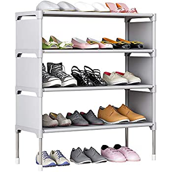 Amazon Com Fkuo Shoes Shelf Easy Assembled Non Woven 4