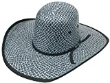 Modestone Traditional Bangora Rodeo Straw Cowboy Hat ''Sizes for Small Heads'' Blue