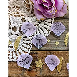 Boho Baby Shower Decorations Baby Girl Lavender Confetti Centerpiece (145) pieces)