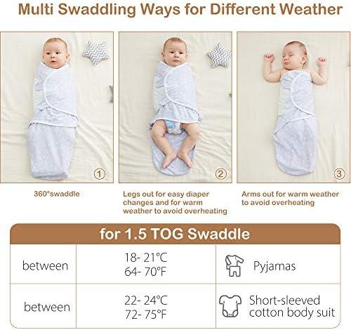 MioRico Saco Dormir Bebe 1 Tog Saquito de Dormir 100/% Algodon Organico Recien Nacido Pijama Manta Bebes 4 Estaciones Saco de Dormir para Beb/és Regalo Recien Nacidos Ni/ño Ni/ña 3-6 Meses