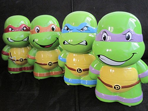 Teenage Mutant Ninja Turtles Ceramic Piggy Banks lot of 4 TMNT Leonardo Donatello Michelangelo Raphael (Ninja Turtle Piggy Bank Donatello compare prices)