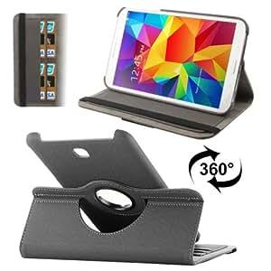Funda 360 Rotatable Denim Texture Leather Case Cover lápiz capacitivo para pantalla táctil con bolsillos interiores & Holder para Samsung Galaxy Tab 4 8/T330