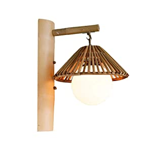 YY-ZP Lámpara de Pared Rural Bamboo Restaurant Tea House Restaurant Inn Bamboo Wall Light