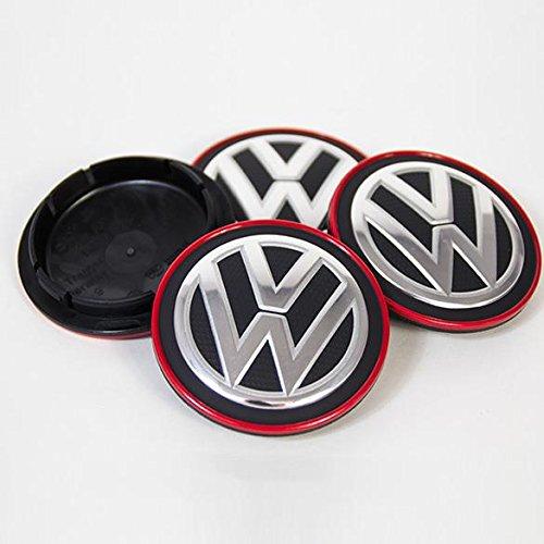 VW純正 Golf7 GTI ゴルフ クラブスポーツ ハブキャップ 4個セット B079Y3ZH1P