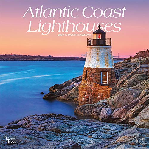 Atlantic Coast Lighthouses 2020 12 x 12 Inch Monthly Square Wall Calendar, USA United States of America Scenic Nature Ocean Sea East