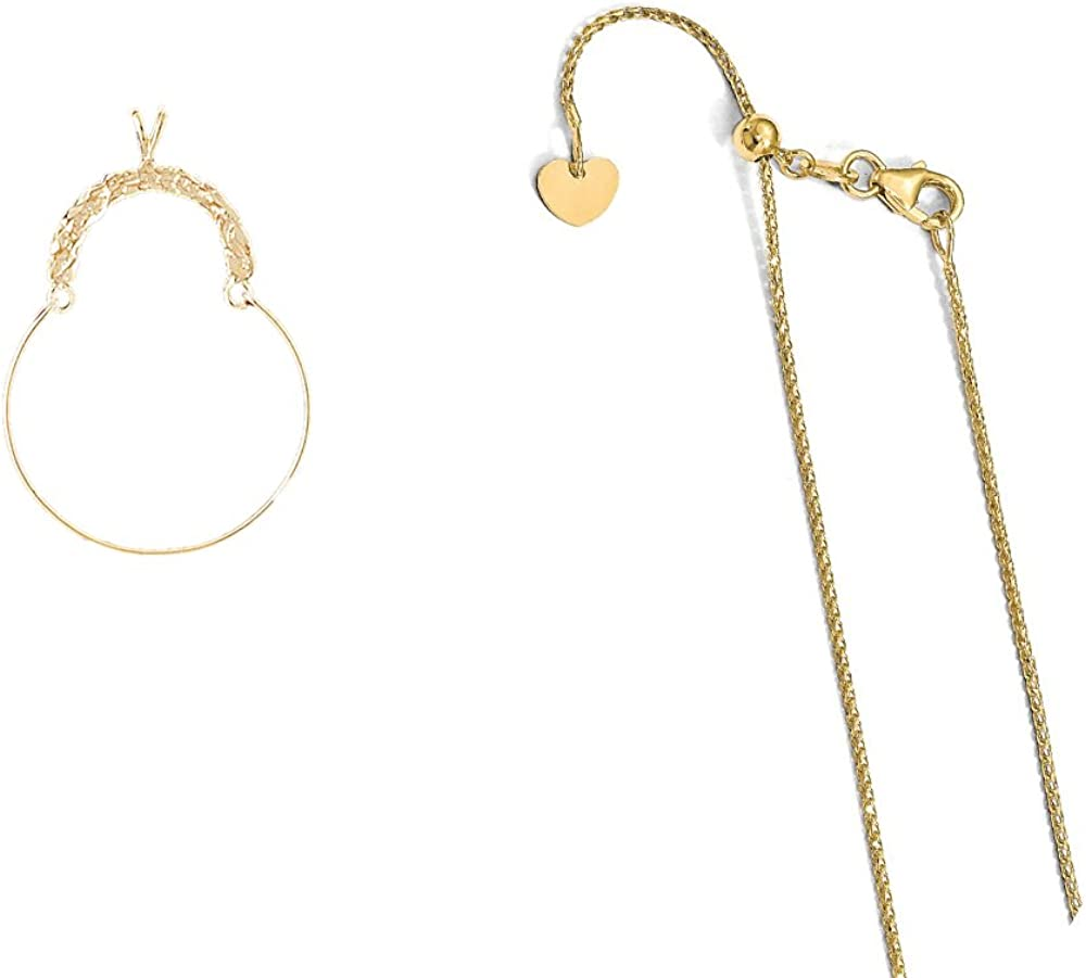 Holder Pendant on an Adjustable 14K Yellow Gold Chain Necklace 14K Yellow Gold Misc