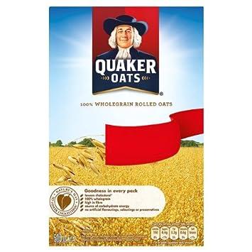 Quaker Oats 100% Grano entero Copos de avena 500g PMP (Pack de 10 x 500g): Amazon.es: Hogar