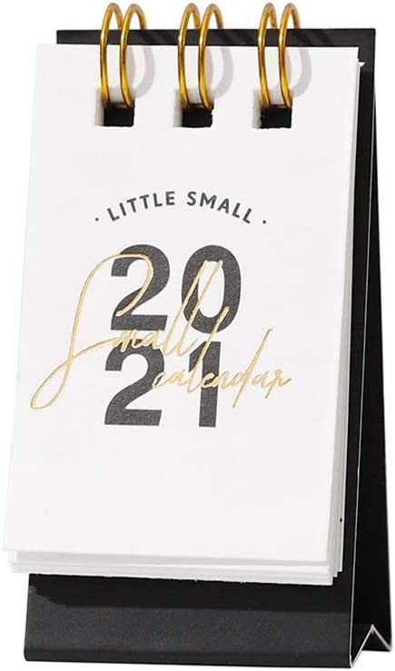 Grneric Desk Calendar 2020-2021 Flip Calendar Daily Planners Desk Accessories Mini Desk Calendar or Home Classroom Standing Calendar 1PC (Black)