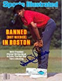 Autographed Oil Can Boyd Photograph - Dennis Sports Illustrated Magazine ) - Autographed MLB Photos