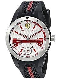 Ferrari Men's 0830250 REDREV T Analog Display Japanese Quartz Black Watch