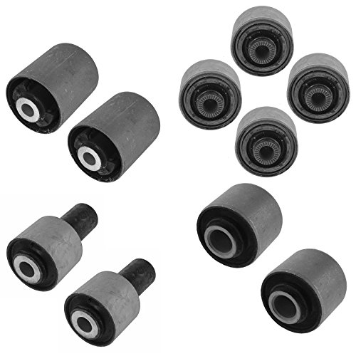 Control Arm Bushing Upper Lower Front Rear Kit Set of 10 for Lexus LS460 (Front / Rear Upper Arm)