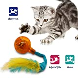Pet Craft Supply Crazy Cat Electronic Wiggling Cat Toy with Lights and Feathers - Batteries Included