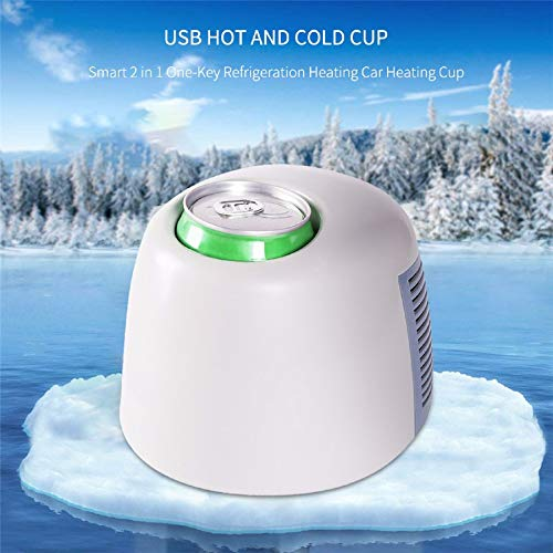 *m·kvfa* USB Hot and Cold Cup Smart 2 in 1 One-Key Refrigeration Heating Car Heating Cup For Office Travel Car Home