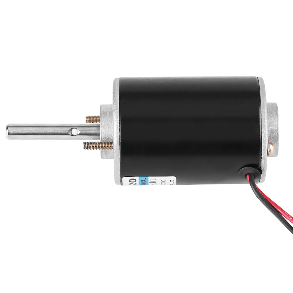 Mini Electric Motor 30W Permanent Magnet DC Motor 12V/24V High Speed CW/CCW (DC 12V 3000RPM) by Walfront (Image #3)