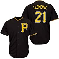 GMRZ Camiseta MLB Hombre, Beisbol Jersey con Pittsburgh Pirates # 21 Clemente Diseño Logo Ropa Deportiva Equipo De…