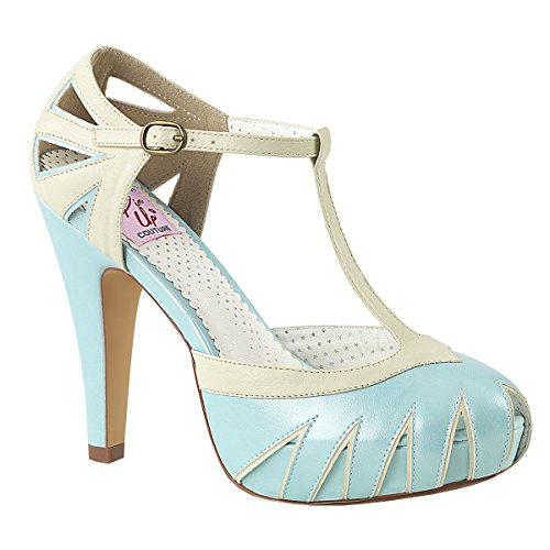 Pumps Babyblue PinUp cream Womens creme Bettie Strap Couture T babyblue 20 Platform XwxSqH7w