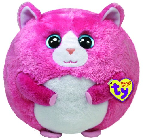 Ty Beanie Ballz Tumbles The Pink Cat (Large)  Amazon.co.uk  Toys   Games 8ac3d32fa96