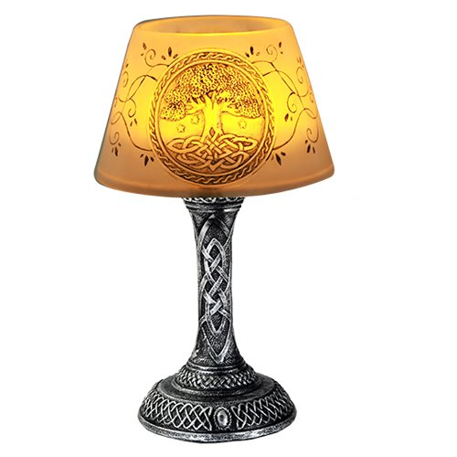 Decor Celtic Home (Pacific Giftware Tree of Life LED Mini Night Lamp Desktop Decor 7 Inch Battery Operated)