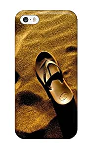 linJUN FENGFor Iphone 5/5s Fashion Design Slippers Abandoned In The Desert Case-zZmFljF1660TeGMQ