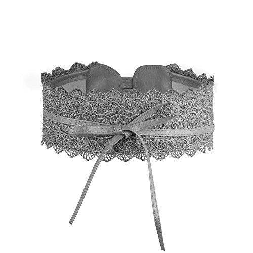 Womens Lace Waist Belt Soft Faux Leather Boho Band Corset Fashion Accessories for Dresses (Corset Belt High Waist)