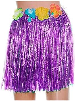 Falda Hawaiana Infantil Hula Lila (40 cm): Amazon.es: Juguetes y ...
