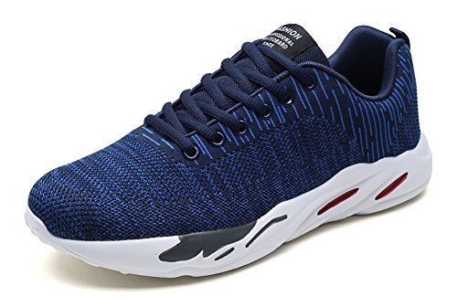No.66 Town Men Flyknit Sneakers Walking Running Shoes Blue