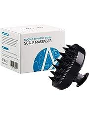 Scalp Massager Hair Shower Brush Siliscrub Shampoo Brush Hair Scalp Brush, Hair Products With Soft Silicon Brush Head For Women/Men/Childs/Pets (Black)