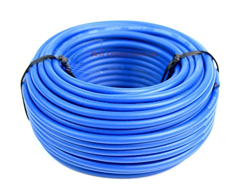 12 GA Gauge 50' Feet Blue Audiopipe Car Audio Home Remote Primary Cable Wire