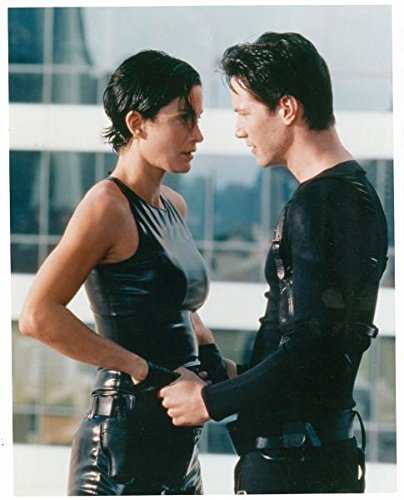 Autograph-Warehouse-93961-Keanu-Reeves-Carrie-Anne-Moss-8-x-10-Photo-Glossy-Image-No--2-The-Matrix
