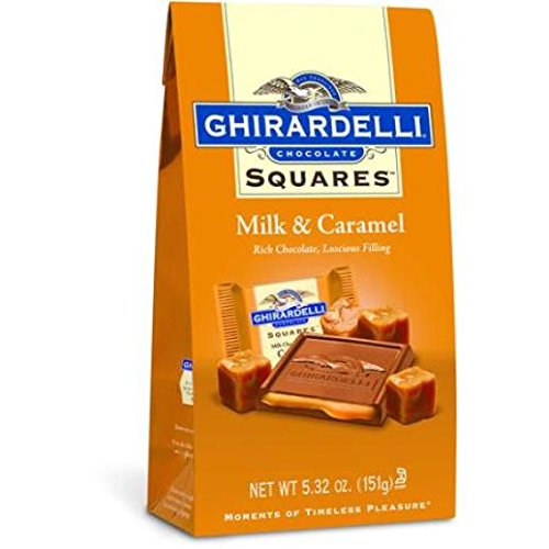 e Squares, Milk Chocolate with Caramel Filling, 5.32 Ounce (Pack of 12) (Ghirardelli Chocolate Wholesale)