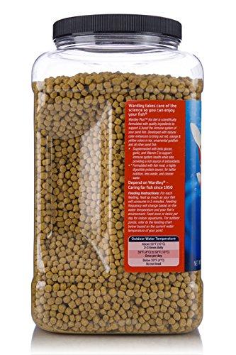 HARTZ Wardley Plus Koi Color Enhancing Pond Fish Food Pellets - 2.8lb by HARTZ (Image #3)