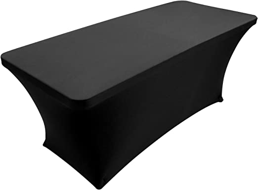 6 Black  Trade Show Table Throws Black Stretch Table Covers 4 8 FT