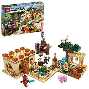 LEGO Minecraft L'Incursione della Bestia, Set di Costruzioni Ricco di Dettagli per Ragazzi 8+ Anni, Il Misterioso Personaggio di Kai Arriva a Salvare gli Abitanti del Villaggio, 21160 Giochi e giocattoli LEGO