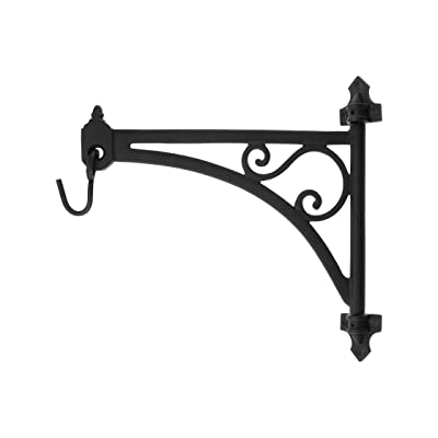House of Antique Hardware R-010SE-2016713 Cast Iron Swing-Arm Plant Hanger in Natural Black: Home Improvement