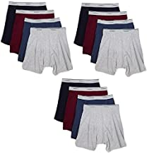 Fruit of the Loom Men's Boxer Briefs 12 Pack, Assorted