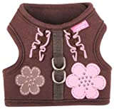 Pinkaholic New York Choco Mousse Harness for Dogs, Brown, Large, My Pet Supplies