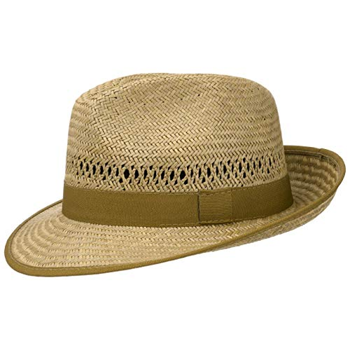 Lipodo Classic Straw Hat Women/Men | Made in Italy | Lightweight Sun Hat with Grosgrain Ribbon | Summer Hat with Wide Brim | Airy Hat with Interwoven Air Holes | Spring/Summer Nature M (7-7 1/8)
